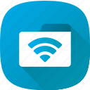 folder, network, setting, wifi icon