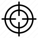 aim, dart, dart board, focus, goal, target icon