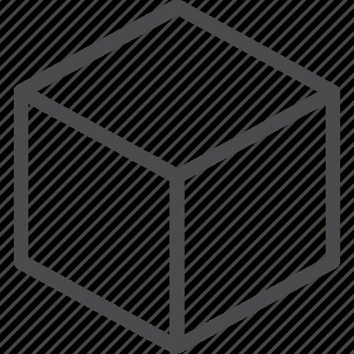 cube, three dimension icon