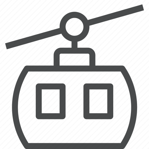 aerial, chair, lift icon