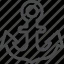 anchor, ocean, sail, sailor