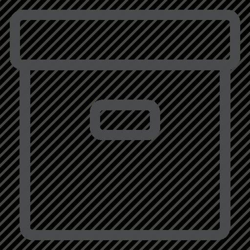 archive, box, files, storage icon