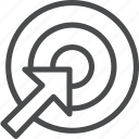 aim, arrow, focus, target icon