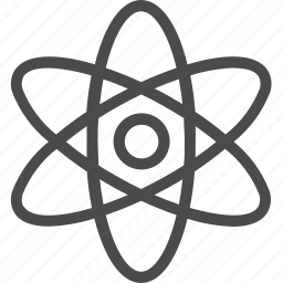 atom, nucleus, science, technology icon