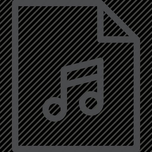 audio, file icon