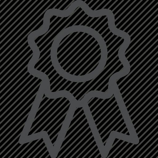 award, complete, ribbon, win icon