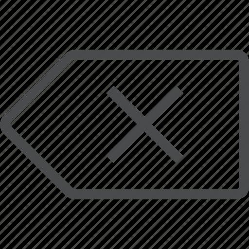 backspace, remove icon