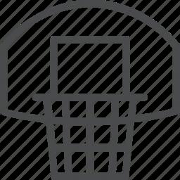 basketball, hoop icon