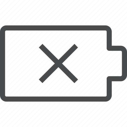 Icons Trading Error Log: Battery, Dead, Error Icon