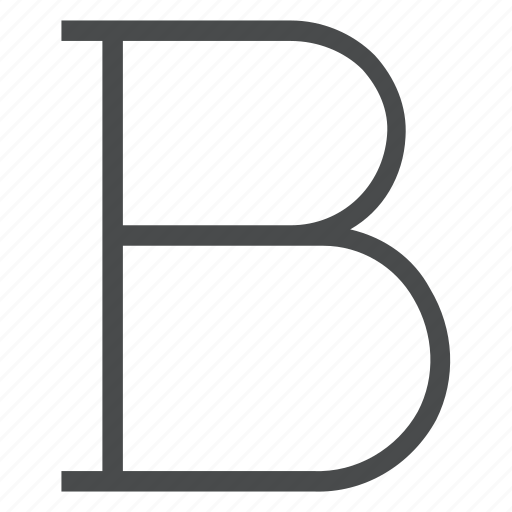 b, bold, letter, type icon