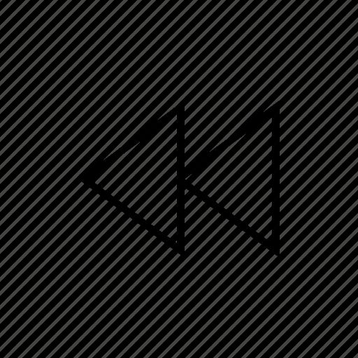 backward, movie, music, sound, video icon