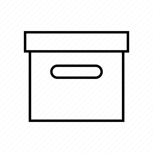 box, case, folder, paste icon