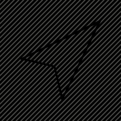 arrow, direction, location, orientation icon