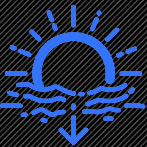 fall, forecast, horizon, sun, sundown, sunset, weather icon