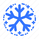 cold, forecast, freeze, snow, snowflake, weather icon