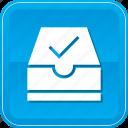 archive, check, document, folder, ml, ok, success icon