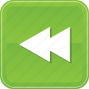 arrow, back, left, multimedia, music, player, rewind icon