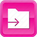 arrow, data, document, file, folder, send icon