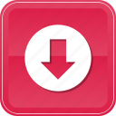 arrow, down, download, downloading, downloads, save, guardar icon