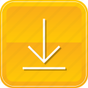 arrow, down, download, downloading, guardar, save, storage icon