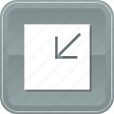 arrow, minimize, reduce, shrink icon
