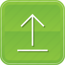 arrow, direction, navigation, up, upload, uploading icon
