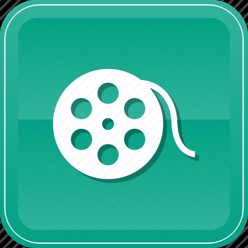 bobbin, film, movie, multimedia, reel icon
