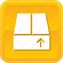 box, crate, delivery, guardar, package, save, upload icon