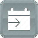 calendar, date, schedule, send, share icon