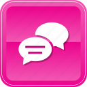 bubbles, chat, comments, discussion, speech, talk icon