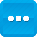 continue, ellipsis, menu, more, options icon