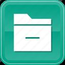 data, delete, folder, minus, remove icon