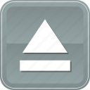 arrow, directional, eject, multimedia, music, orientation, video icon