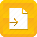 document, exit, export, file, send, sending icon