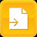 document, exit, export, file, send, sending icon