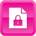 document, file, lock, locked, protect, secure, security icon
