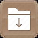 data, download, downloading, folder, storage icon