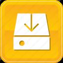 data, download, drive, hard, hdd, storage icon