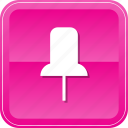 fasten, pin, push, pushpin, tack, thumb, thumbtack icon