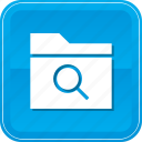 file, files, folder, glass, magnifying, search icon
