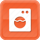 electronic, front, machine, washer, washing icon