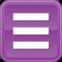 bars, hamburger, list, menu, options, stack icon