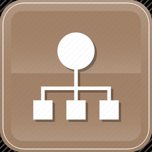 diagram, hierarchical, hierarchy, order, organization, structure, team icon