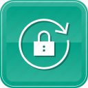 arrow, lock, refresh, reload, rewind, secure icon