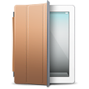 brown, cover, ipad, white
