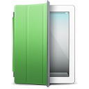cover, green, ipad, white icon