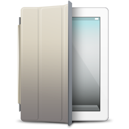 beige, cover, ipad, white icon