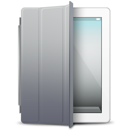 cover, gray, ipad, white icon
