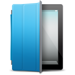 blue, cover, ipad icon