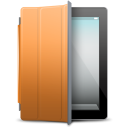 cover, ipad, orange icon